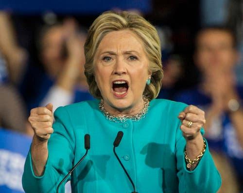 Die demokratische Präsidentschaftskandidatin Hillary Clinton. (Bild: Keystone)