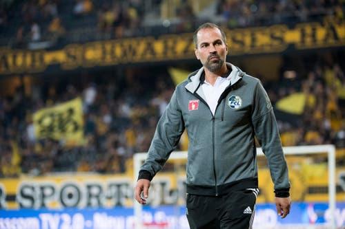 Luzerns Cheftrainer Markus Babbel kann nicht zufrieden sein. (Bild: Anthony Anex / Keystone)