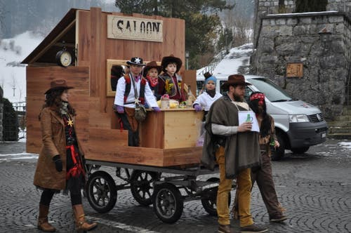 Mobiler Saloon. (Bild: Birgit Scheidegger (Lungern, 10. Februar 2018))