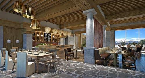 Blick in eine Restaurant. (Bild: Visualisierung PD)