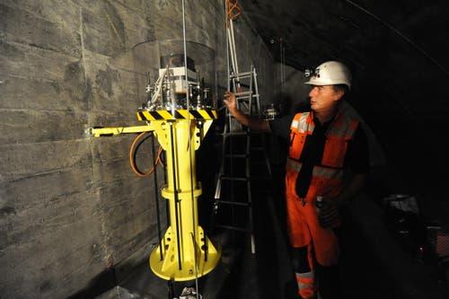Im Berg macht die eidgenössiche Materialprüfungs- und Forschungsanstalt (Empa) einen Langzeitversuch. (Bild: Urs Hanhart / Neue UZ)
