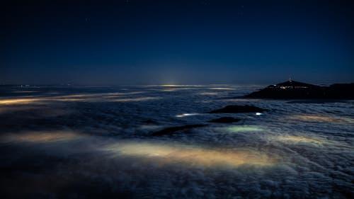 Nächtliches Nebelmeer vom Stanserhorn. (Bild: Martin Borner)