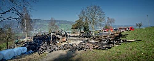 Die Brandursache ist unklar und Gegenstand laufender Abklärungen. Zur Höhe des Sachschadens kann die Polizei keine Angaben machen. (Bild: Pius Amrein / Neue LZ)