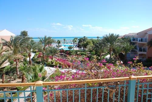 Die Hotel-Anlage in El Gouna, in der die FCL-Spieler untergebracht sind. (Bild: Daniel Wyrsch/Neue LZ)