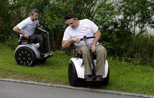 Das Genny auf Segway Basis ist ein geländegängiger Rollstuhl. (Bild: Keystone)