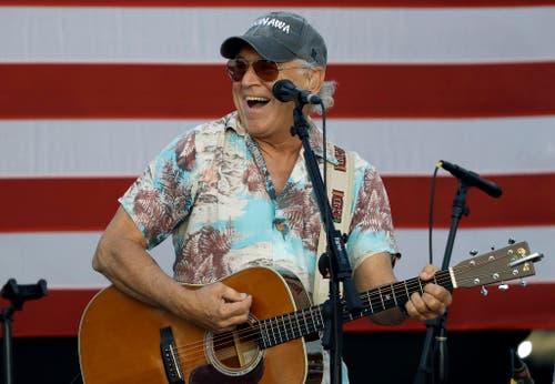 Sänger Jimmy Buffett an einer Veranstaltung von Hillary Clinton. (Bild: Keystone)