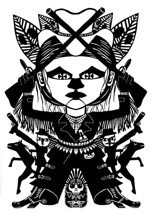 Scherenschnitt der französischen Künstlerin Caroline Sury.