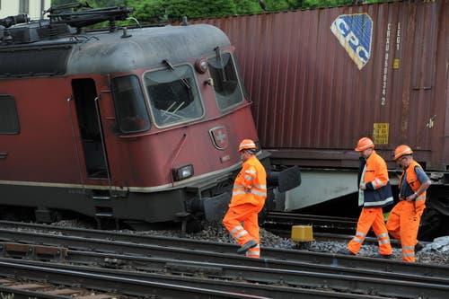 Der Unfall passierte bei der Ausfahrt aus dem Bahnhof. (Bild: Urs Hanhart (Neue UZ))
