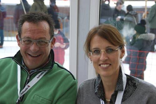 Esther Gasser, Regierungsrätin des Kantons Obwalden und Paul Federer, Landammann des Kantons Obwalden. (Bild: Primus Camenzind / Neue OZ)