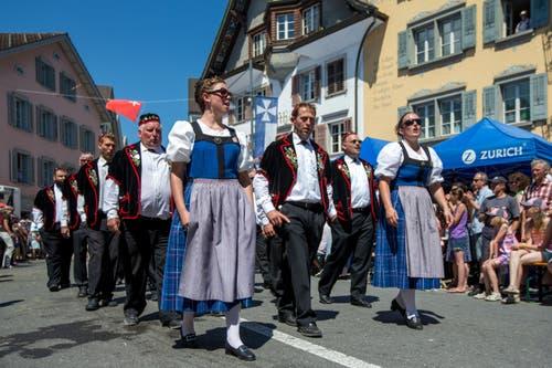 Jodlerklub Flueli Ranft am Zentralschweizer Jodlerfest. (Bild: Philipp Schmidli)