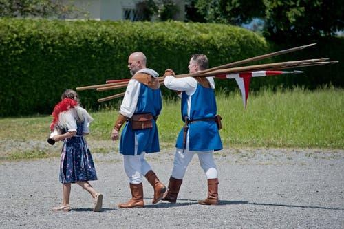 Impressionen nach den offiziellen Feierlichkeiten. (Bild: Pius Amrein (Neue LZ))