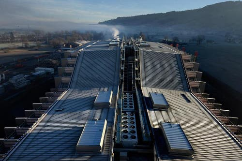 Dezember 2014: Im September 2012 erfolgte der Spatenstich - jetzt ist die neue Abfallverbrennungsanlage betriebsbereit. (Bild: Nadia Schärli)