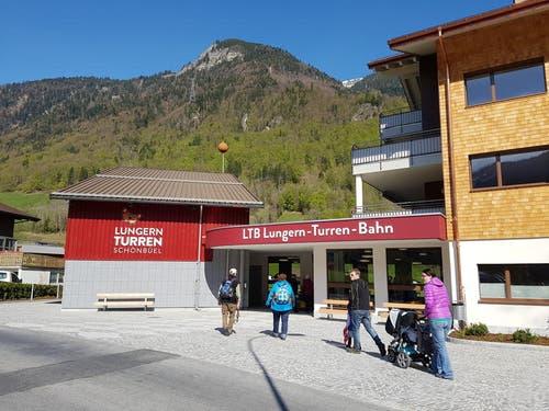 Die Talstation der Lungern-Turren-Bahn. (Bild: PD)
