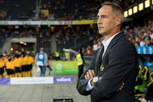 YBs Cheftrainer Adi Hütter. (Bild: Anthony Anex / Keystone)