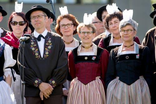 Festakt am Zentralschweizer Jodlerfest am Sonntag, 28. Juni 2015 in Sarnen. (Bild: Philipp Schmidli)