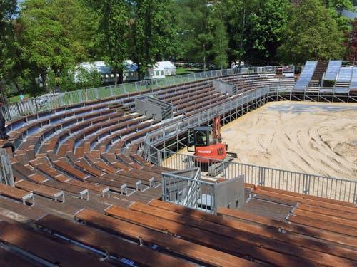 Das Stadion auf der Bühlermatte beim Verkehrshaus fasst 2500 Plätze. (Bild: René Meier)