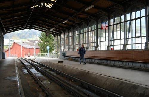 Gilt als Pionierleistung: Der Hochperron der Rigi-Bahn in Goldau. (Archivbild Neue LZ)