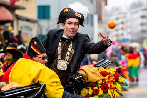 Egli-Vater Philipp Anton I am Fasnachtsumzug Horw (Bild: Philipp Schmidli)