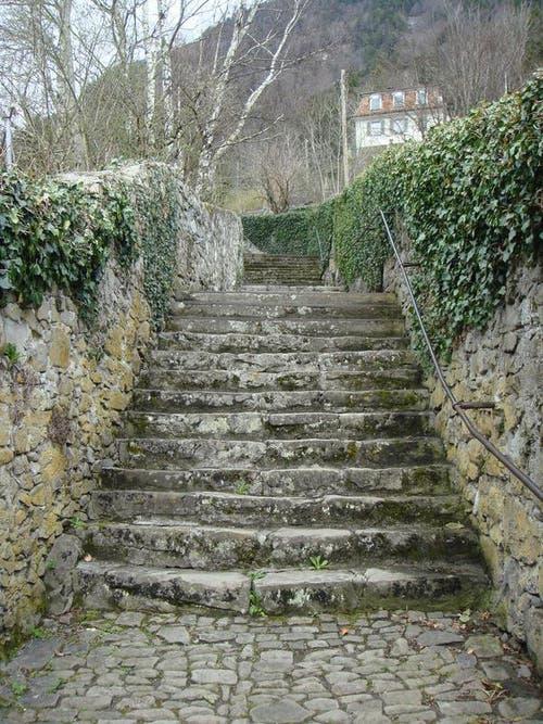 Kanton Uri: Treppen am Kapuzinerweg in Altdorf (Bild: pd)