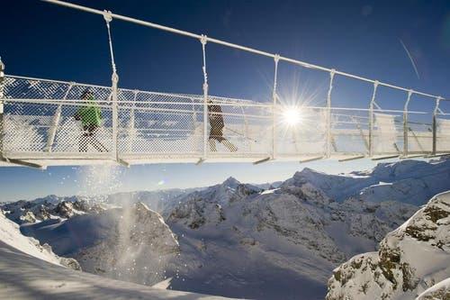 Wird am 15. Dezember freigegeben: Cliff Walk auf dem Titlis. (Bild: Keystone)