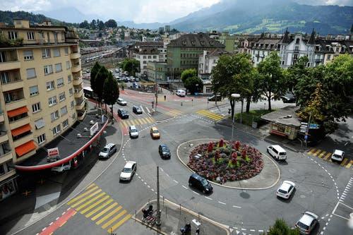 Platz 4: Luzern, Bundesplatz, 7 Unfälle (Bild: Corinne Glanzmann)