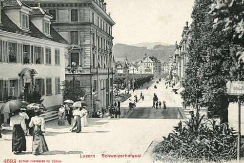 Von der Hofkirche zum Luzernerhof, nicht datiert. (Bild: PD)