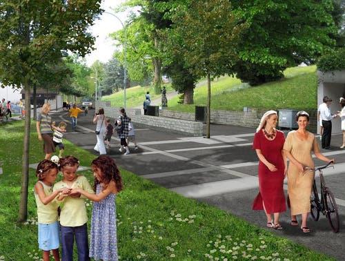 Die mögliche Situation nach der Neugestaltung der Seepromenade. (Bild: PD)