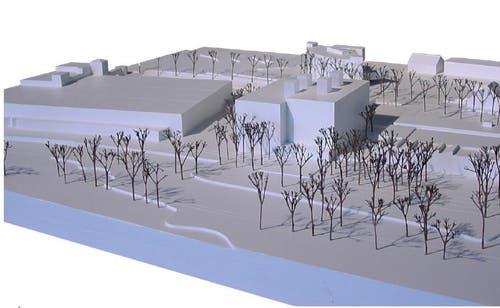 Der Neubau ist neben dem Südpol geplant. (Bild: Enzmann Fischer & Büro Konstrukt)
