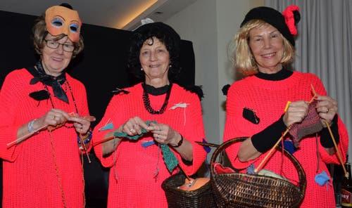 Marianne Alessandri, Magrith Schubiger und Heidi Fries. (Bild: Claudia Surek)