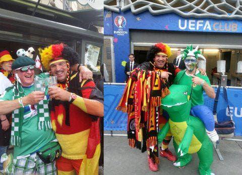 """Ich war mit meinem Kumpel Christof beim Spiel Deutschland-Nordirland. Was haben wir mit den tollen Fans aus Nordirland gefeiert!! """"Who is on fire?! Will Griggs on fire!!"""" https://youtu.be/NHW_cAndkqQ (Bild: Christof Schulz)"""