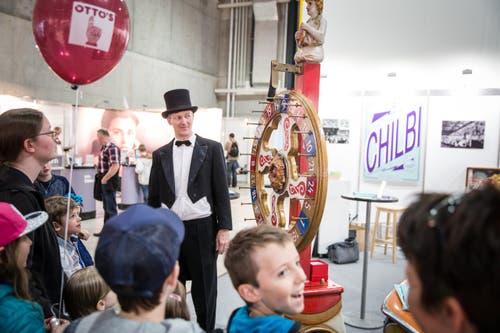 """Das Historische Museum präsentiert die nostalgische Sonderschau """"Chilbi"""" in der Halle 2 an der LUGA. (Bild: NeueLZ / Manuela Jans-Koch)"""