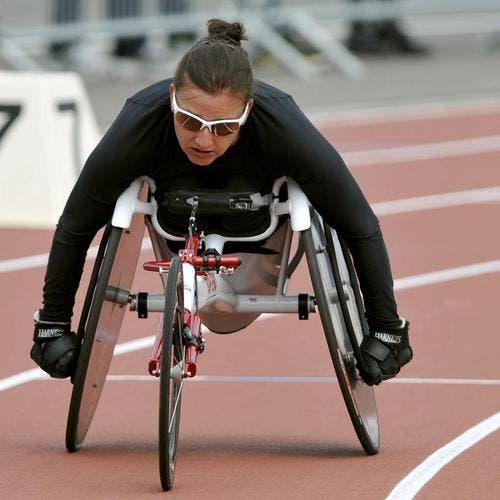Die zweifache Schweizermeisterin im Rollstuhlsport Manuela Schär (Bild: Keystone)