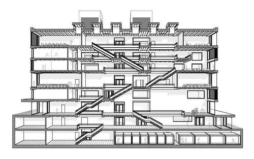 Schnittperspektive durch das Hauptfoyer (Bild: Enzmann Fischer & Büro Konstrukt)