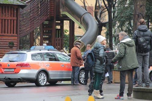 Das Bleicherpärkli wurde zum Tatort umfunktioniert. (Bild: Claude Hagen (Neue LZ))