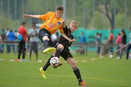 Final U12: Hertha BSC Berlin-FC Lausanne-Sport. (Bild: Martin Meienberger)