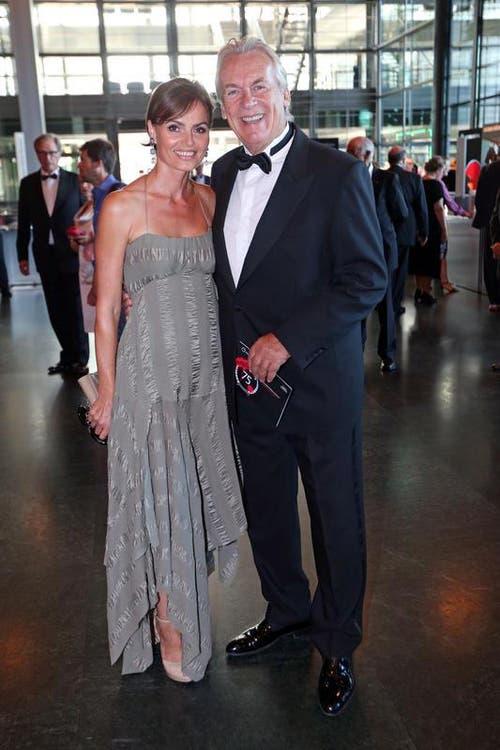 Bandmusiker Pepe Lienhard mit Ehefrau Christine Kohli. (Bild: Philipp Schmidli / Neue LZ)