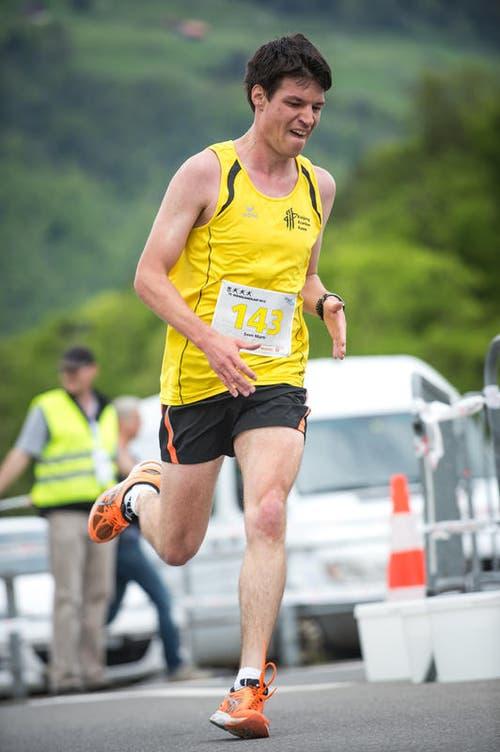 Sven Marti lief auf den 3. Platz in der Kategorie Herren Elite. (Bild: Roger Grütter / Neue LZ)