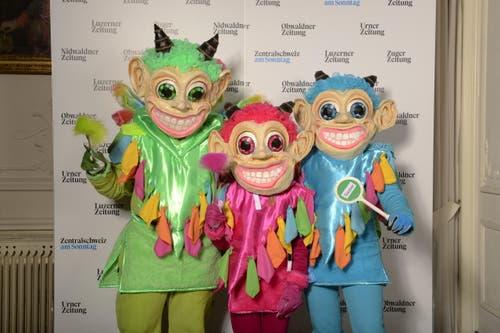 Im Folgenden alle weiteren Masken, die am Wettbewerb mitgemacht haben. (Bild: Dominik Wunderli (Luzern, 8. Februar 2018))