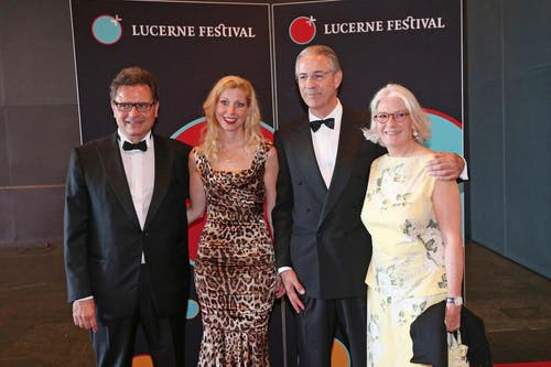 Michael Haefliger, Intendant Lucerne Festival (links) und Hubert Achermann, Stiftungsrat Lucerne Festival. (Bild: Philipp Schmidli / Neue LZ)