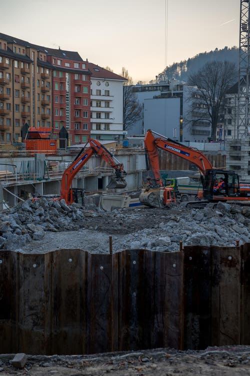 Die ersten Wohnungen sollen 2019 bezugsbereit sein. (Bild: Nadia Schärli (LZ))