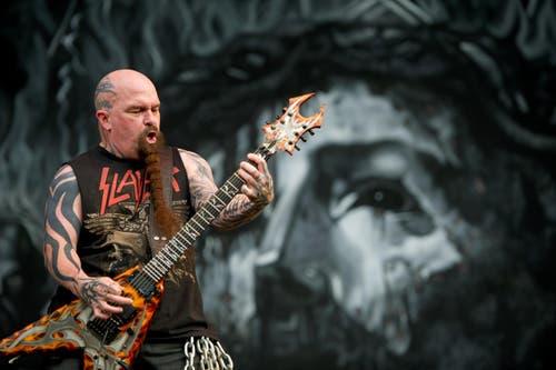 Harte Klassiker des harten Rocks: Slayer. (Bild: Corinne Glanzmann)