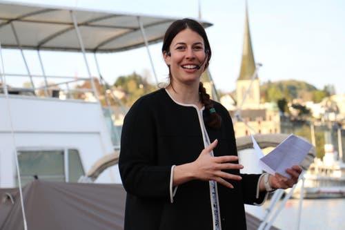 Dominique Gisin bei der Taufe. (Bild: Stefanie Nopper / Luzernerzeitung.ch)
