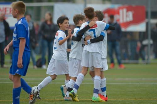 Junioren des FC Zürich. (Bild: Martin Meienberger)