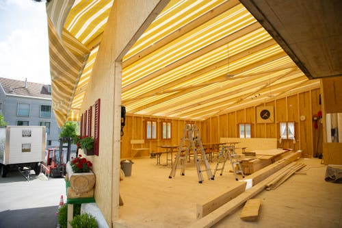 Hütte der Sportschützen Schüpfheim (Bild: Corinne Glanzmann)