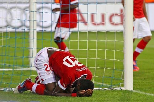 Johan Djourou hatte in der Nachspielzeit eine grosse Chance zum Ausgleich. (Bild: Philipp Schmidli / Neue LZ)