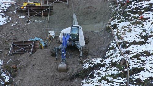 Steilhang gleich hinter der neuen Talstation (07.11.2014) (Bild: René Meier)
