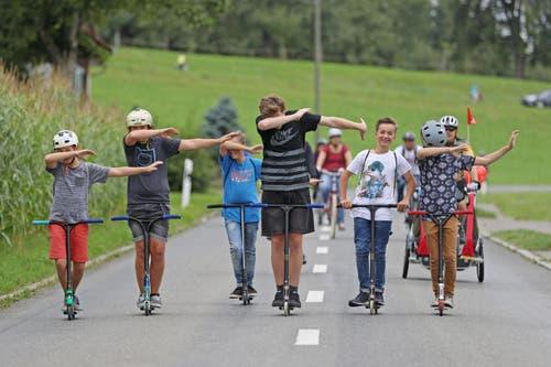 Scooter Crew aus Hitzkirch. (Bild: Philipp Schmidli / Neue LZ)
