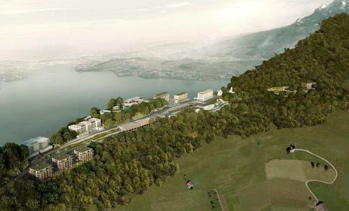 Visualisierung des Resorts auf dem Bürgenstock. (Bild: PD)