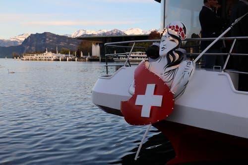 Die Gallionsfigur der «MS Switzerland». (Bild: Stefanie Nopper / Luzernerzeitung.ch)