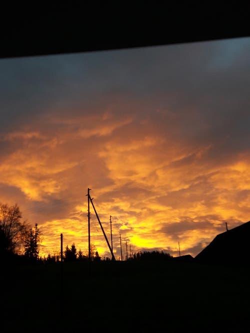 morgens um 7.30 Uhr. hat der Sonnenaufgang in die Wohnung geleuchtet (Bild: Yvonne Stadelmann)